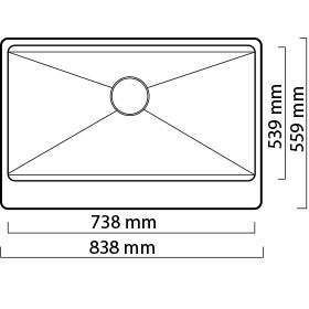 Lavatrastos de diseño americano de estilo granja de una fosa de súper tamaño y súper profundidad, fabricado a mano, de fino acabado Satín. Le da a su cocina ese toque de lujo y elegancia que usted desea. El diseño más moderno y de moda actualmente usado en Europa y América del Norte, Fabricado con acero inoxidable 304 y espesor de 1.2 mm (C-18) materiales usado en la fabricación de utensilios de cocina de la más alta calidad.